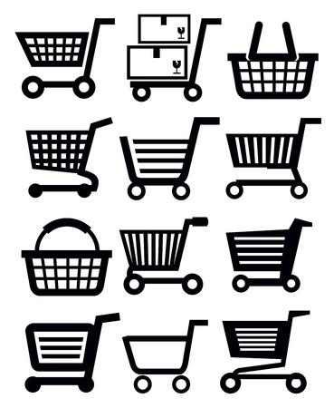 merchant: shopping cart Illustration