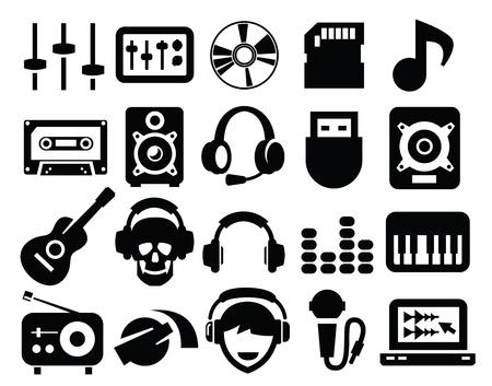 botones musica: iconos de la m�sica Vectores