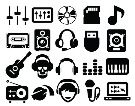 play music: music icons Illustration