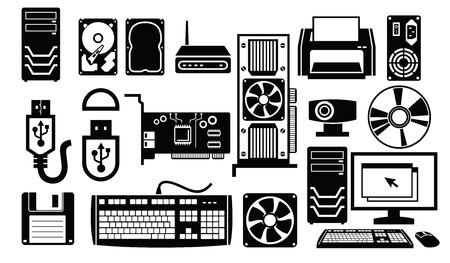 computer hardware icon Stock Vector - 19193937