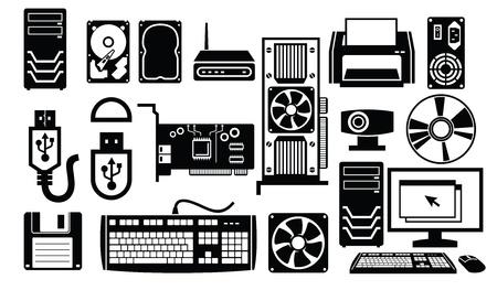 icono de hardware Ilustración de vector
