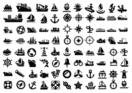 marinha: barco e navio