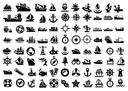 barco y barco Ilustración de vector