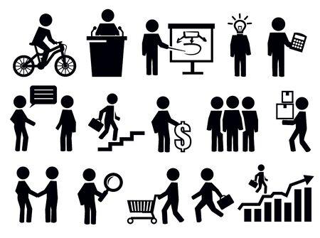 organização: Ícones dos povos do negócio