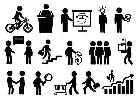 office icons: business people icons Illustration