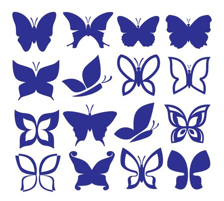 butterflies icons Stock Vector - 19354282