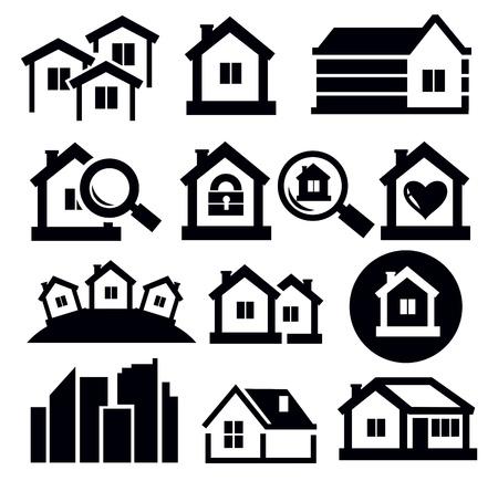 small town: real estate icon set Illustration