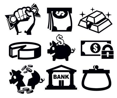 bank icon: money icons