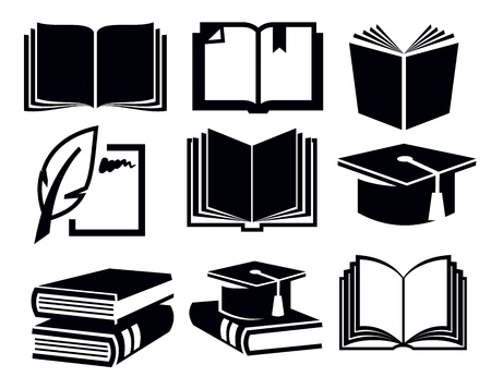 book cover design: book icons