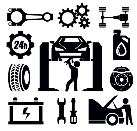 automotive repair: car repair icon