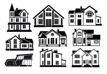 architecture pictogram: home icons