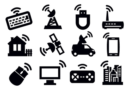 internet connection: connection icon set