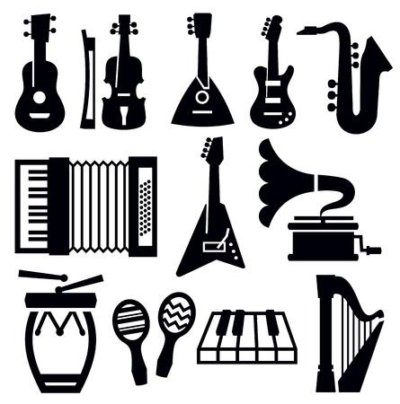 bass guitar: music icon Illustration