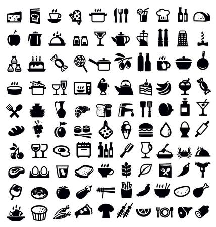cocina y el icono de la comida