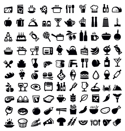 kitchen and food icon Vector