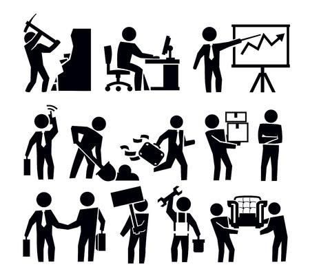 Entreprise et le travailleur Banque d'images - 20011455
