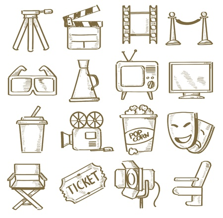 hand drawn movie Vector