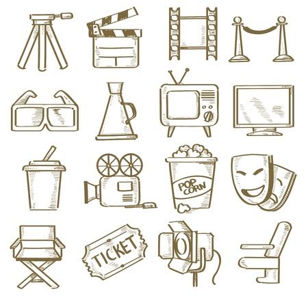 hand drawn movie Stock Vector - 20011456