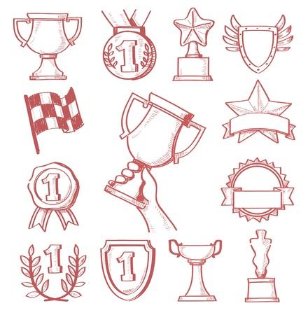 trofeo: trofeo y premios Vectores