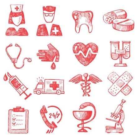 doodle: hand draw medical Illustration