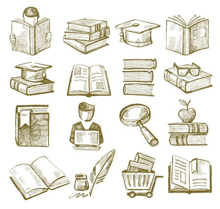 hand draw books Stock Vector - 20246065