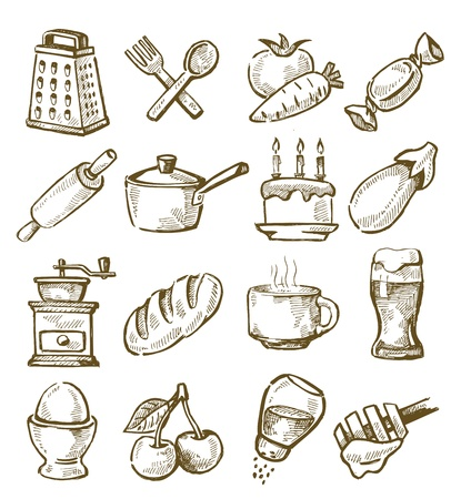 sweetmeat: hand drawn kitchen