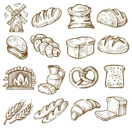 bagel: hand getekende brood