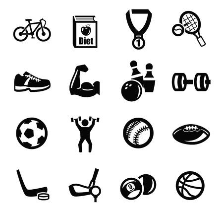 football shoe: black sport icons set on white
