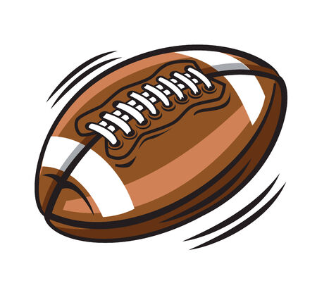 vector color american football on white background Stock Vector - 22866313