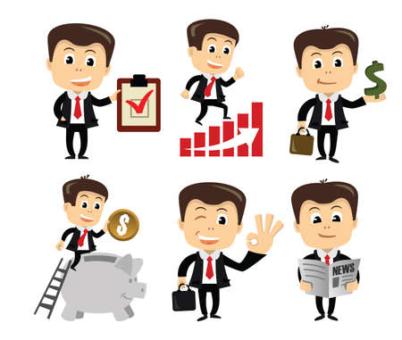 vector businessman in vaus poses Stock Photo - 26427645