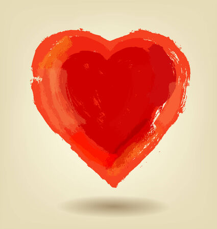 vector painted red heart photo