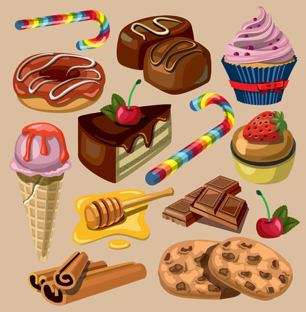 mousse: vector set of sweets