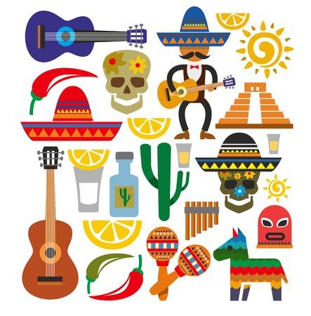 piramide alimenticia: iconos vectoriales méxico