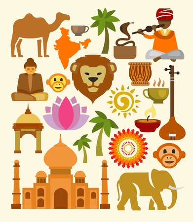 vector india icon set photo
