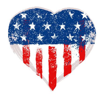 hart: I Love USA vector Stock Photo