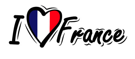 I Love France vector photo