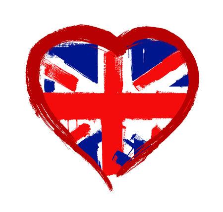 bandera de gran bretaña: Amo Bretaña vector Foto de archivo