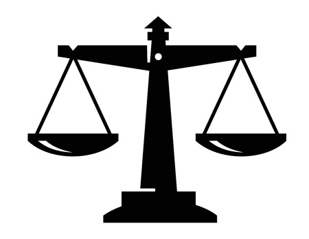 balanza en equilibrio: escalas icono