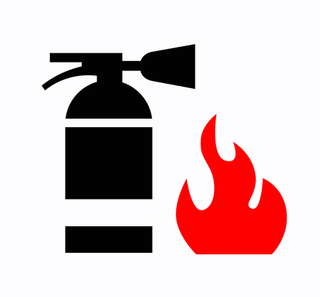 firealarm: Fire extinguisher Stock Photo