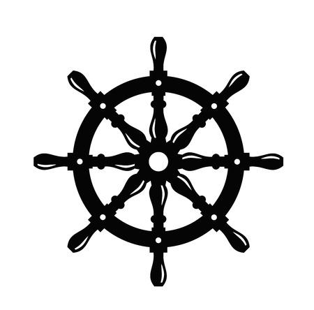 船のステアリング ホイール 写真素材