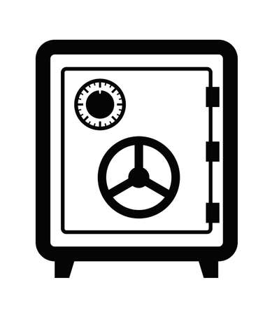 safety box: safe icon Stock Photo