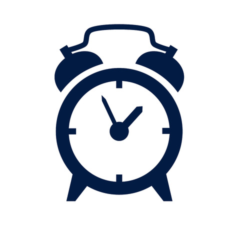 despertador: icono de reloj de alarma