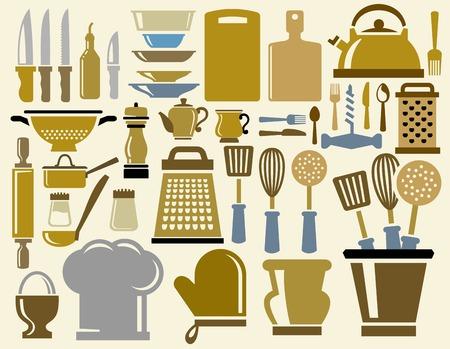 kitchen ware: kitchen icons