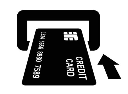 holding credit card: credit card Stock Photo