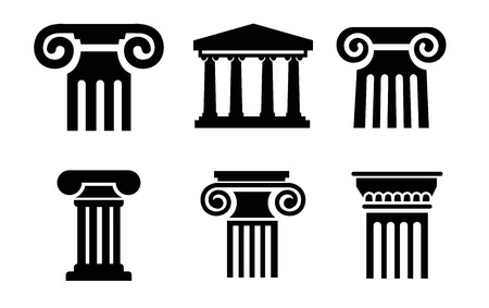 history architecture: column icons