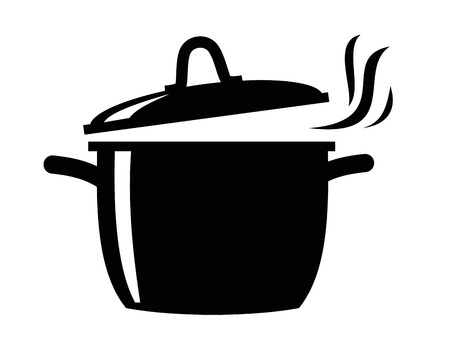 Cooking pan icon Фото со стока