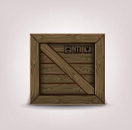 wooden box photo