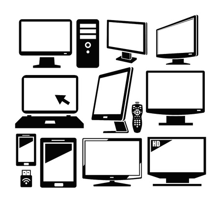 flat screen monitor: electronic devices Stock Photo