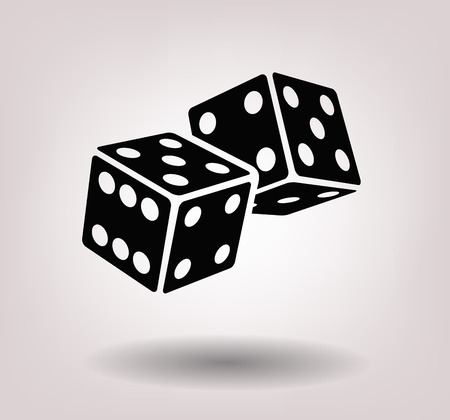numbers clipart: dice cubes Stock Photo
