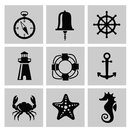 Sea icon Stockfoto